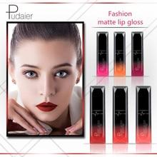 Pudaier Mode Wasserdicht Lip Gloss Frauen Schönheit Nude Lip Make-Up Kosmetik Matt Flüssigen Lippenstift Anhaltende Nicht Stick Tasse Lipgloss