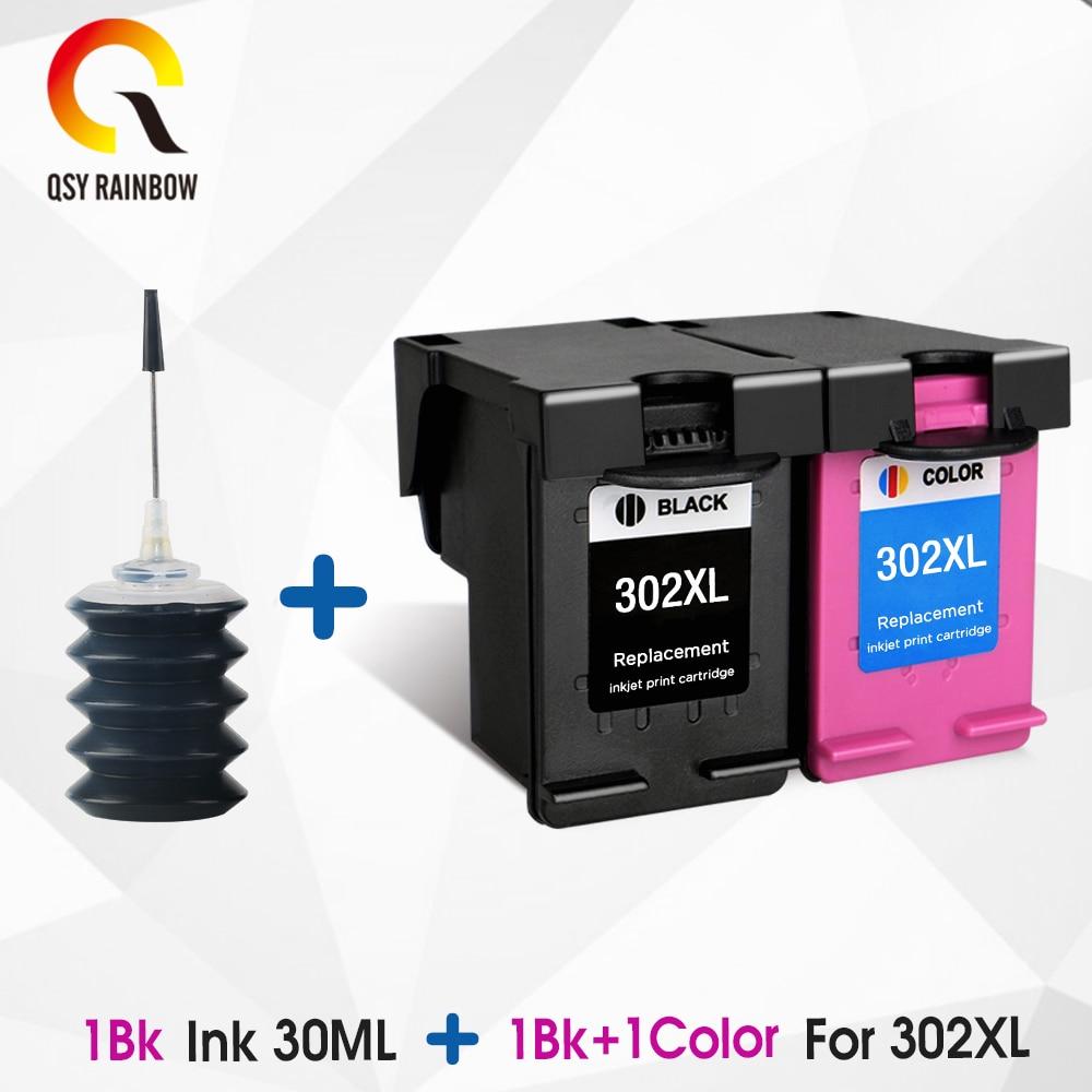 Qsyrainbow 302XL 302 Inkt Cartridge Vervanging Voor Hp 302 Hp 302 Xl Ink Cartridge Voor Hp Officejet 4650 Printer