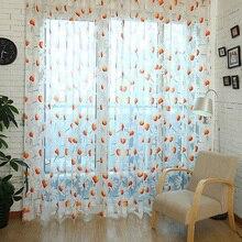 Rideau de marguerite en Tulle 1 pièce   Rideau en fil brûlé pour fenêtre, rideau de fleurs pour chambre à coucher, salon 1m x 2m