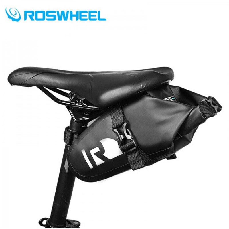 ROSWHEEL 2017 велосипедная Сумка задняя Сумка-седло 100% полностью водонепроницаемая велосипедная сумка для сидения панье велосипедные сумки аксе...