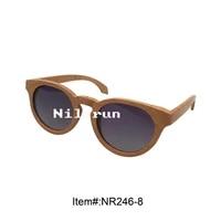 round beech wood sunglasses