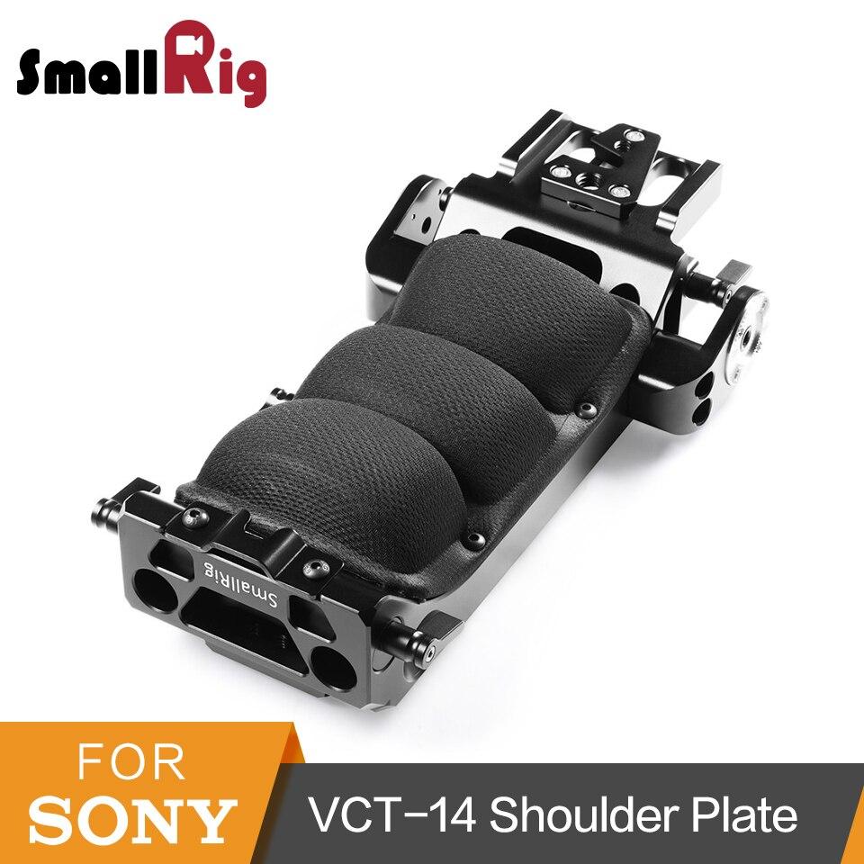 SmallRig para Sony VCT-14 Placa de hombro de liberación rápida para Sony FS7/FS7II/FS5 adaptador de trípode con ARRI Rosette-1954
