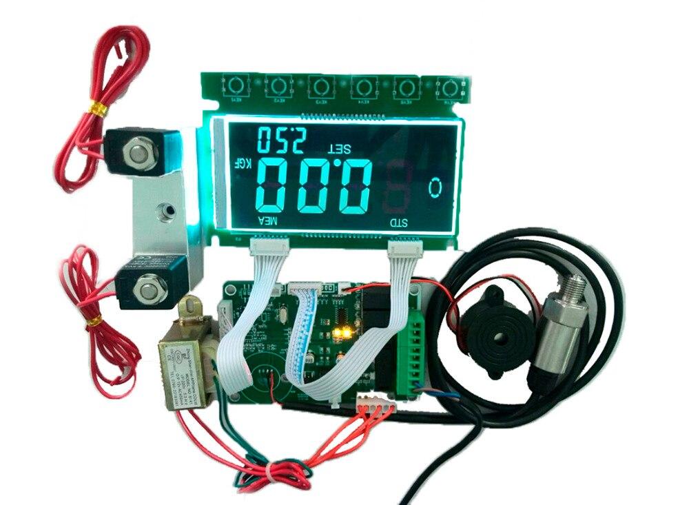 URANN LCD pantalla neumático inflador automático placa controladora PCB con válvula de batería