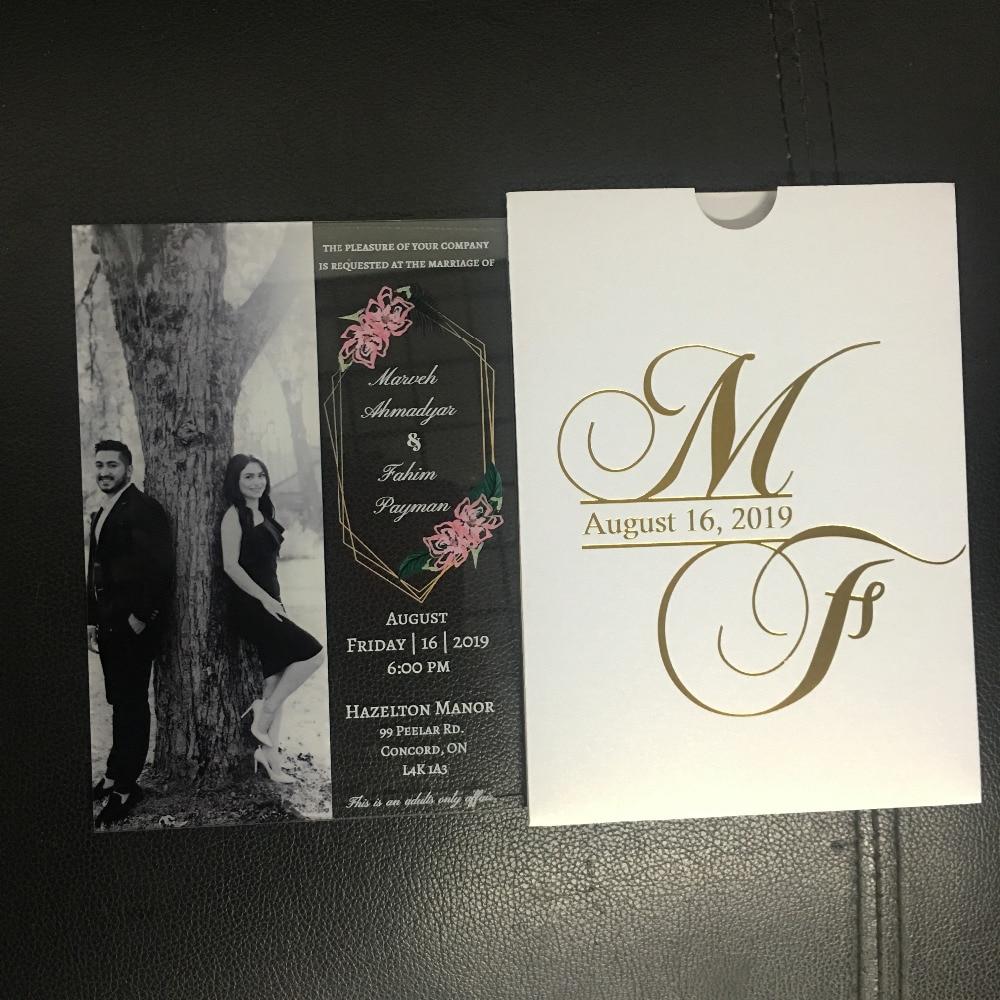 5 шт. бесплатный дизайн Популярные Акриловые Карты Свадебные обручальные карты арабские приглашения с коробкой обертка