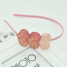 Nuevo tocado de tres love girl, bonito tocado de color, accesorios para el pelo de niños