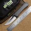 ירוק קוץ נודיסטים SBSF M390 להב מתקפל סכין טיטניום חיצוני הישרדות קמפינג ציד כיס סכיני פירות EDC שירות כלי