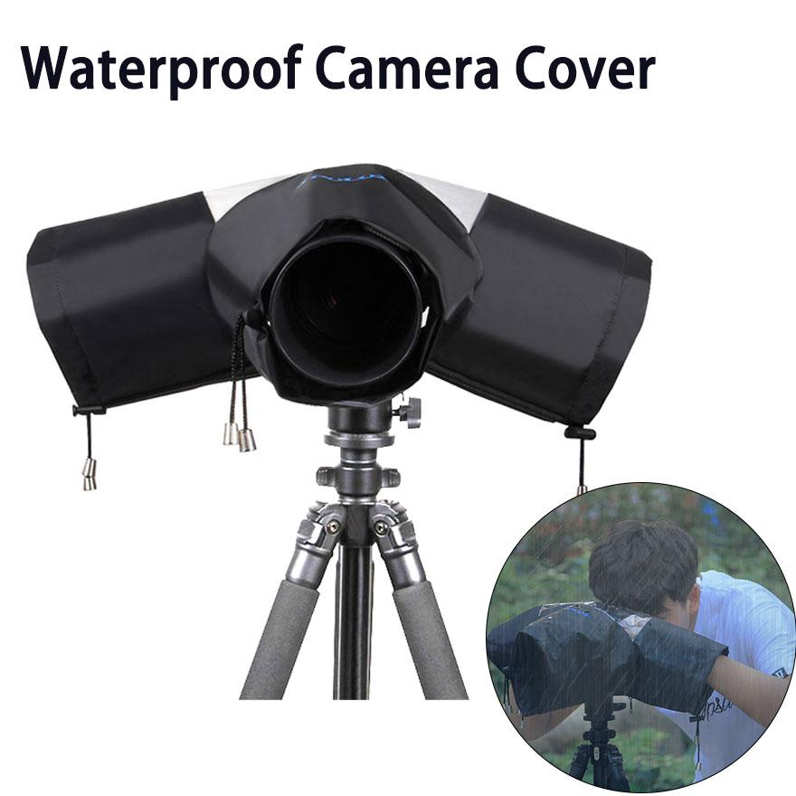 Chubasquero de cámara de nailon de alta calidad, funda protectora antipolvo para lluvia y agua, funda protectora sin espejo para cámaras DSLR