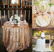 Круглая скатерть с блестками 80 см, вышитая скатерть для свадебной вечеринки, блестящая скатерть золотого, серебряного, розового золота, син...