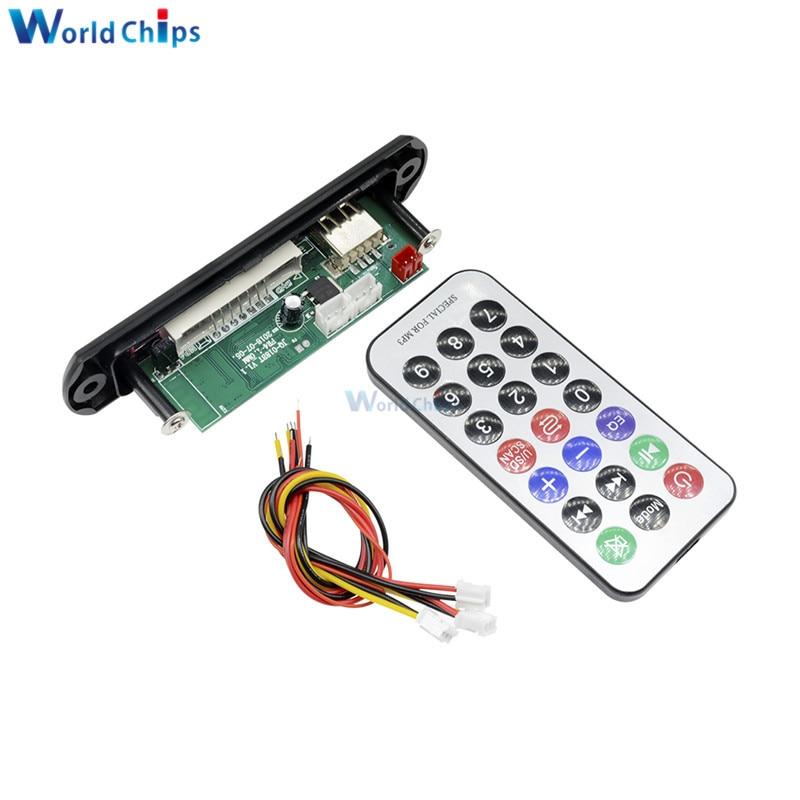 Placa decodificadora de tarjeta de sonido MP3 Bluetooth para coche 12V 3.5A AUX Bluetooth placa decodificadora de MP3 Bluetooth módulo placa decodificadora de MP3 para coche