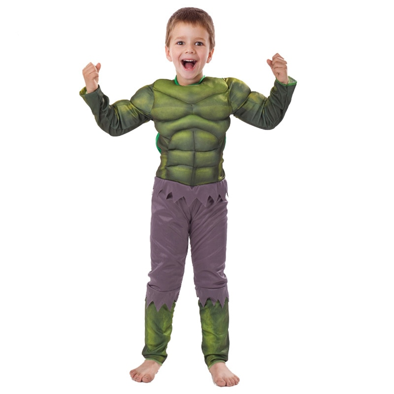 Jyzcos Kids Hulk Costume Halloween Costume Carnival Party Fancy Dress Boy Children Avengers Hulk Muscle Cosplay Clothing Boys Costumes Aliexpress