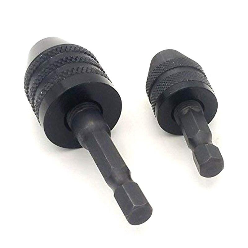 Gytb 1/4 Polegada hex haste keyless broca chuck mudança rápida adaptador conversor broca adaptador (0.3-6.5mm 0.3-3.6mm)
