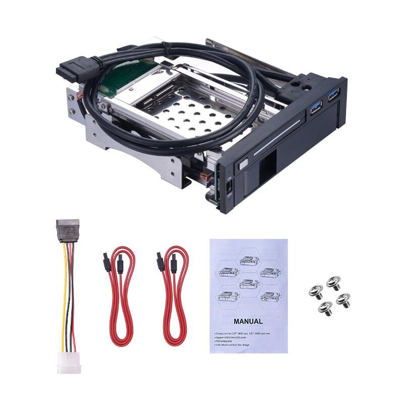 """Unetop 2,5 """"y 3,5"""" SATA bandeja-menos multifunción Hot Swap SSD HDD recinto para 5,25 """"Drive Bay interno Mobile Rack"""