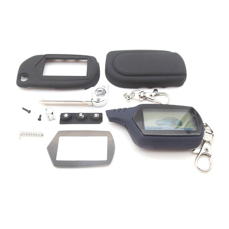 Sistema Anti-roubo A91 Controle Remoto LCD + Caso Chaveiro para Starline A91 Chave A91 A61 B9 B6 sem cortes lâmina fob da tampa do caso