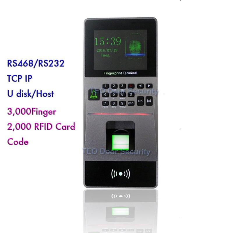 Hohe Geschwindigkeit Große Kapazität RFID reader Biometrische Fingerprint Access Control/Zeit teilnahme maschine Software Sicherheit System