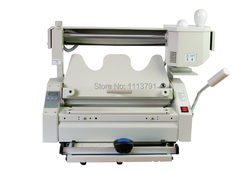 Rongda JB-4 Small desktop manually installed plastic, bookbinding machine + With Indentation machine function enlarge