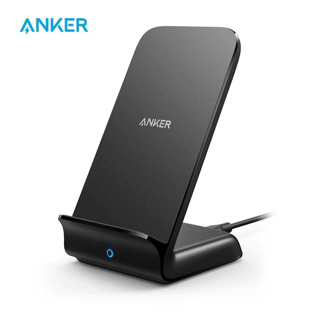 Anker PowerWave حامل شاحن لاسلكي سريع ، معتمد من Qi ، 7.5 واط لهاتف iPhone 11/11 Pro/11 Pro Max/XR/XS وما إلى ذلك ، 10 واط لهاتف Galaxy وأكثر من ذلك