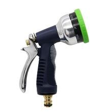 مسدس مياه عالي الضغط 9 أنماط مسدس رش قابل للتعديل أدوات ري لغسل السيارات رشاشات مياه للحديقة 1 قطعة