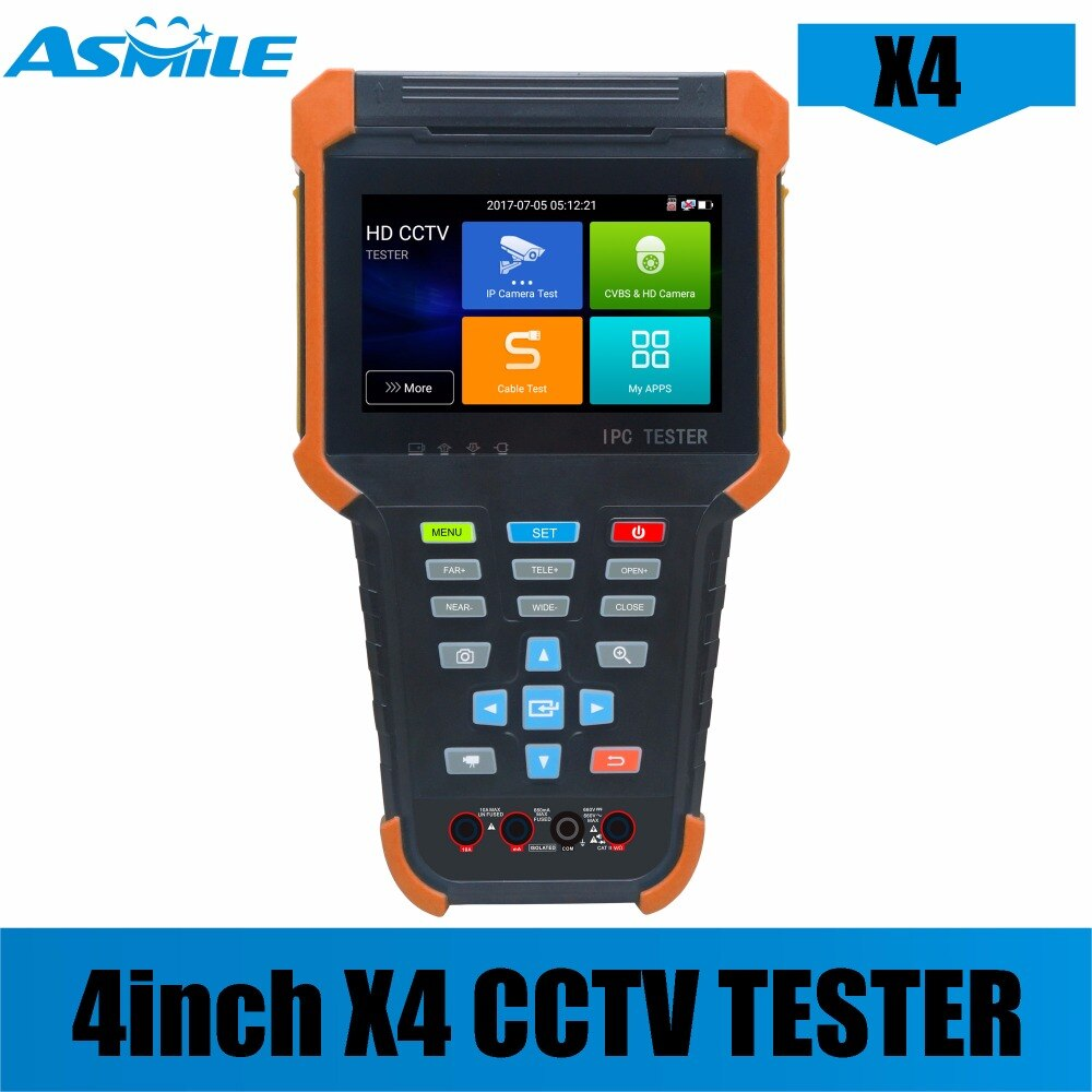 Portable X4 series touch screen IP Camera tester with TVI 8MP/CVI 8MP/AHD 5MP/EX-SDI enlarge