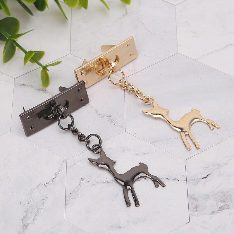 Deer Pendant Metal Decoration for DIY Handbag Craft Shoulder Bag Hardware