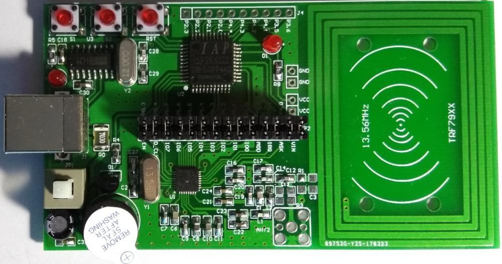 لوحة تطوير تردد الراديو RFID ، 51 وحدة تحكم MCU ، لـ TRF7960 TRF7961