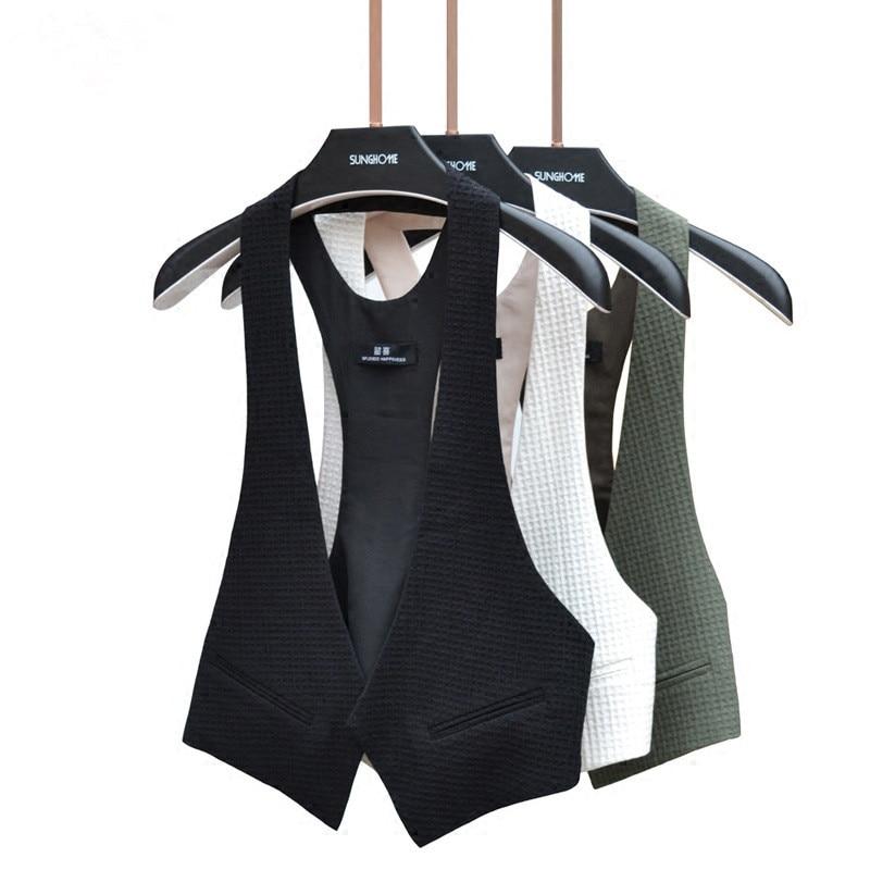 Cotton Linen Black Sleeveless Female Vest Jacket Korean Feminine Coat Waistcoat Plus Size Loose Summer Vests For Women Cardigan