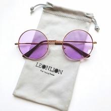 LeonLion 2019 Candy Farbe Runde Sonnenbrille Frauen Mode Sonnenbrille Frauen Spiegel Klassische Vintage UV400 Oculos De Sol Gafas