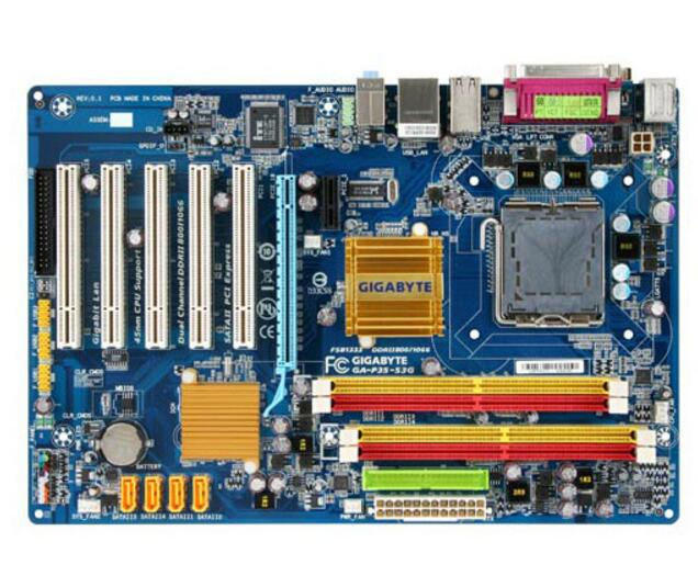 Para Gigabyte GA-P35-S3G Original Usado P35-S3G P35 Soquete LGA 775 DDR2 ATX Desktop Motherboard À Venda