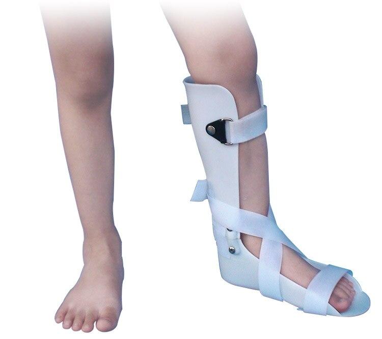 Niños tobillo pie espray tirantes Niño pie gota ortosis tobillo rehabilitación fractura ligamento lágrima Talipes Varus Valgus soporte