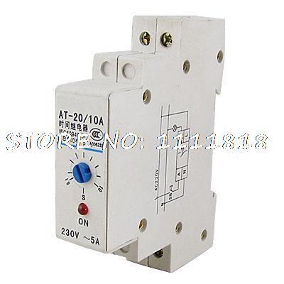 مؤشر LED ، تيار متردد 220 فولت ، 0.1-10 ثوانٍ ، طاقة في الوقت ، مؤقت ، مرحل تأخير