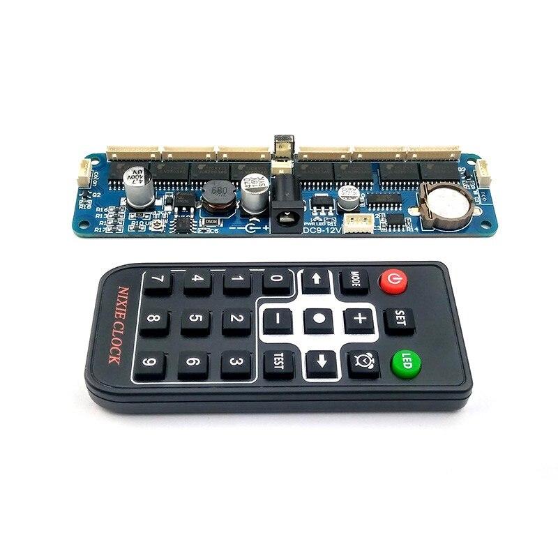 Placa de tubo Nixie de 6 dígitos + Kit de bricolaje de reloj de tubo de Control remoto para in12 in14 in18 qs30-1