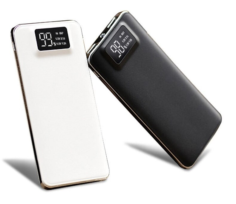 Hot LCD 30000mAh Power Bank Tragbare Aufladen Power Dünne Poverbank Externe Batterie Pack Ladegerät Für Xiao mi mi iPhone