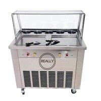 square pan soft ice cream machine/thailand ice roll machine(free ship by sea)