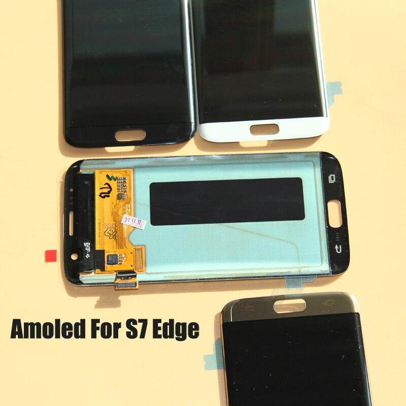 شاشة SUPER AMOLED LCD تعمل باللمس ، لهاتف SAMSUNG Galaxy s7 edge G935 G935F
