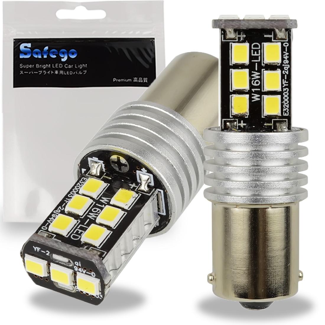 Safego 2x1156 super brilhante p21w branco 15 2835 lâmpada led para estacionamento do carro turn signal luz sidelight 12 v ba15s 1141 dc12v 6000 k