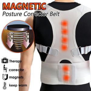 2021 неопреновый бандаж для спины выпрямитель плечевой ремень для спины Поддержка позвоночника пояс для фитнеса Для Мужчин Женщин Мужчин Магнитный Корректор осанки