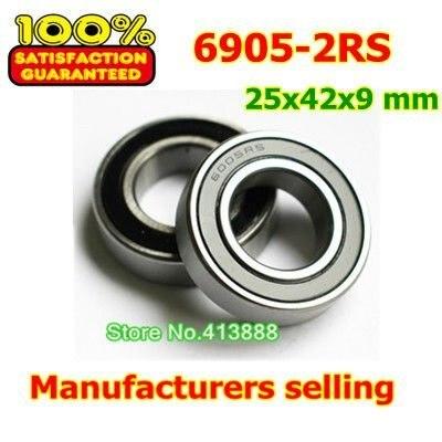 De alta calidad, rodamiento de acero inoxidable SS6905-2RS 6905 S6905-2RS S61905-2RS S6905RS S6905RZ 25*42*9mm 440C material