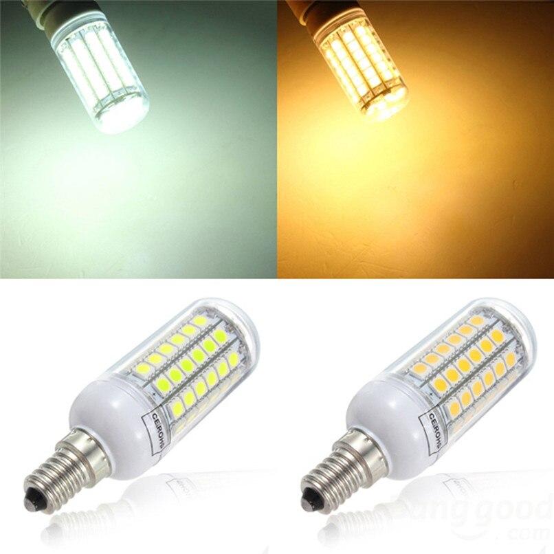 Bombilla LED E14 70LED 8W bombilla de maíz de luz de ahorro de energía blanca cálida 220V #4u14