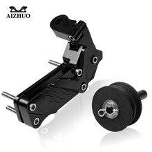 Tendeur de chaîne de moto en aluminium   Tendeur de chaîne pour axe arrière, ajusteur de chaîne pour KAWASAKI ZX7R Z800 Z750 Z900 NINJA 300 ER6F ER 6N