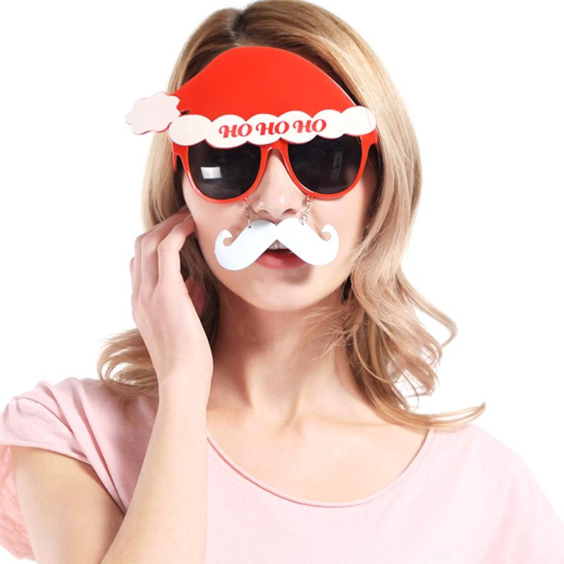 1 PC gafas de plástico divertido árbol de Navidad creativo gafas de Navidad para fiesta de disfraces divertidos niños Navidad