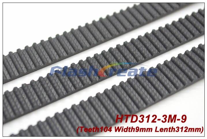 5 uds HTD3M cinturón 312 3M 9 longitud 312mm ancho 9mm 104 dientes 3M correa de distribución de goma de bucle cerrado 312-3M envío gratis