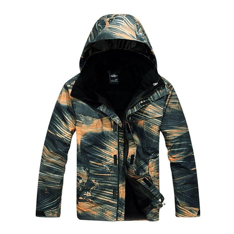 2021 Men 3 in 1 Jacket Windbreaker Camping Hiking Jacket Breathable Coat Waterproof Windproof Detachable Liner 2 Pieces Outwear