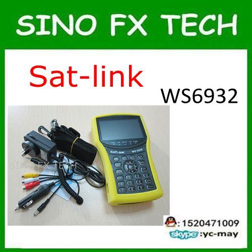 4,3 pulgadas LCD DVB-S2 satélite buscador Satlink WS-6932 con analizador de espectro