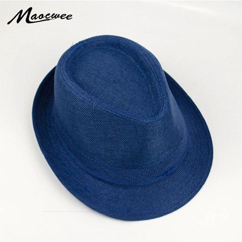 Hecho a mano de punto de paja sombreros par tapa hueco transpirable Jazz playa Mujer Casual de verano sombrero de hueso para papá sombreros 2017