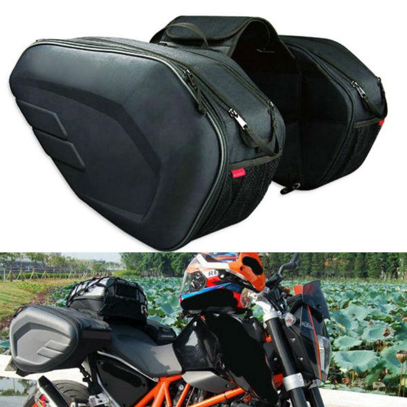 58L Motorcycle Saddlebags Rear Seat Luggage Large Capacity Multi-use Expandable Body & Frame Tank Ba