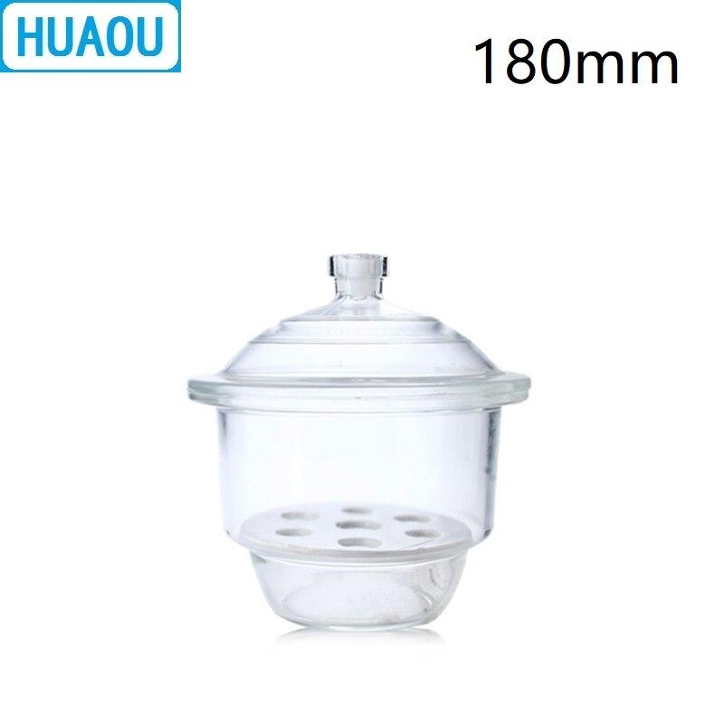 Фото HUAOU 180 мм осушитель с фарфоровой пластиной прозрачное стекло лабораторное