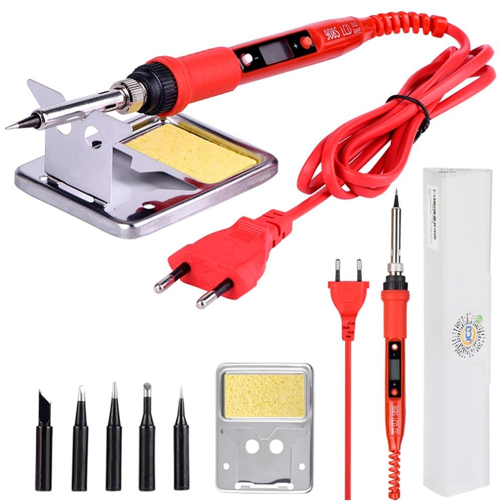 Saldatore elettrico 220V 80W con temperatura regolabile e display LCD, saldatore con punte di saldatore di qualità