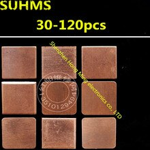 (30-120piece)15mm x 15mm Thermal Conductive Pads Copper Mat for PC Repair GPU GBA CPU CHIP Memory IC