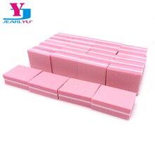 50 X Nagel Datei Schleifen Rosa Puffer Block Mini Schwamm Nagel Filer Kalk Ongle Maniküre Polieren Schleifen Für Frauen Pflege werkzeuge Set