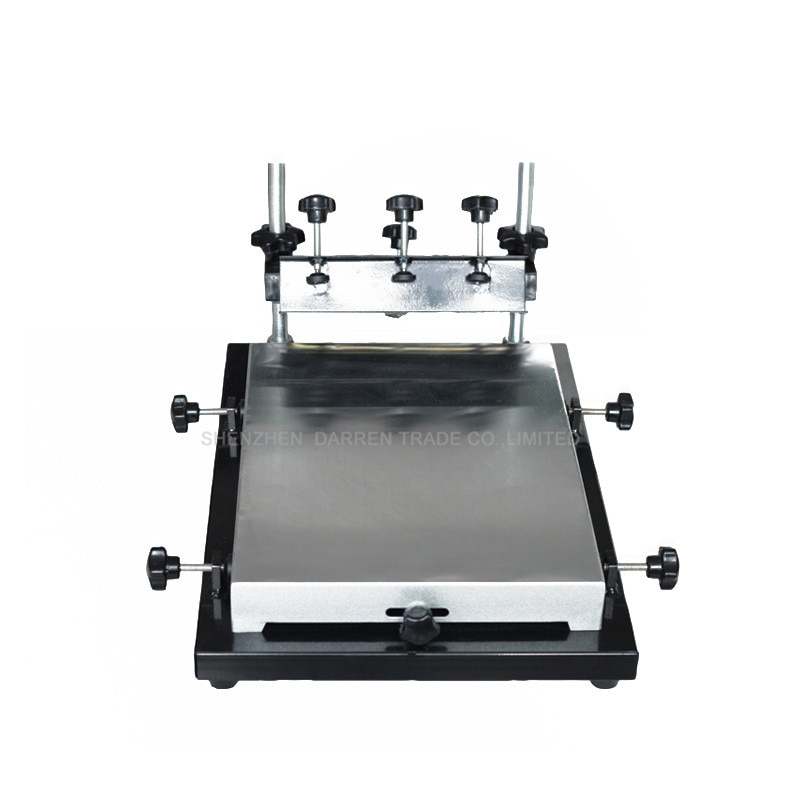 free shipping discount with gift 4 color 2 station silk screen printing machine tshirt printer press equipment carousel squeegee Single Color Screen Printer T-shirt Screen Printing Machine 24*30cm Flat Printing Press