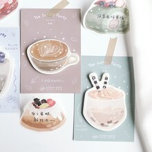 1 pcs Dessert cake coffee memo pad paper sticky notes post notepad kawaii stationery papeleria school supplies